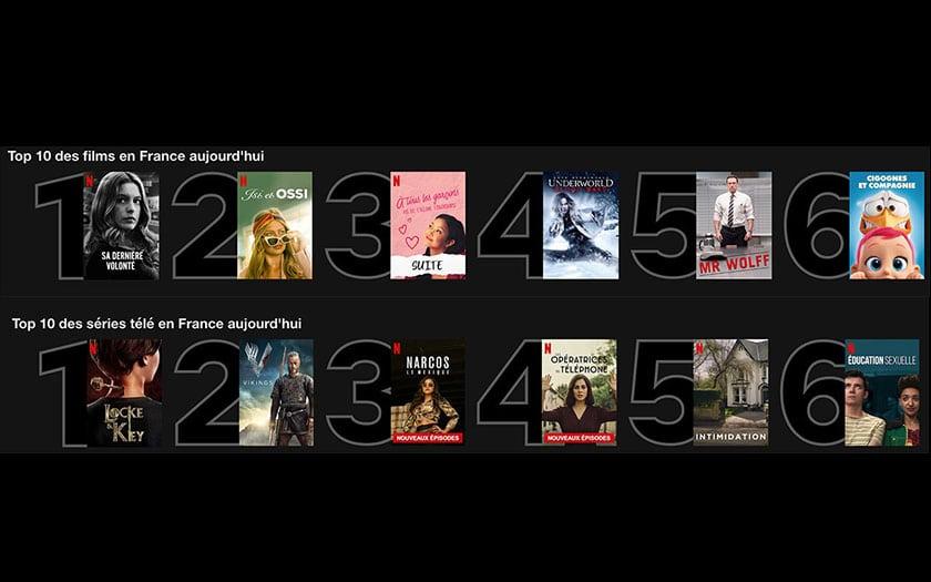 netflix top 10 films séries plus regardés