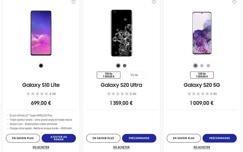 Les Galaxy S20 pourraient mal se vendre à cause du prix cassé des S10 - PhonAndroid.com