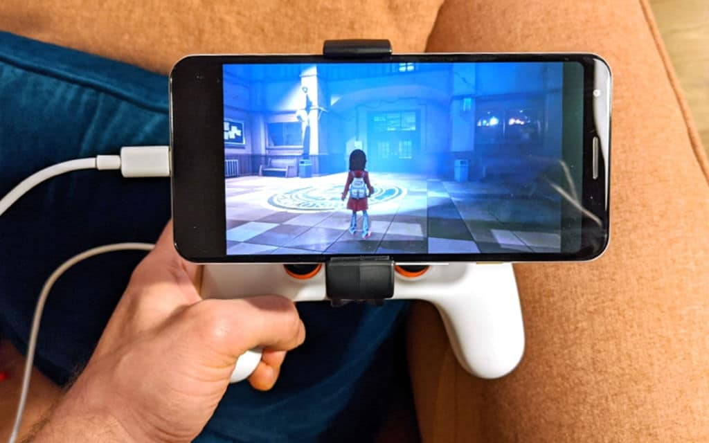 Stadia sur smartphone Android