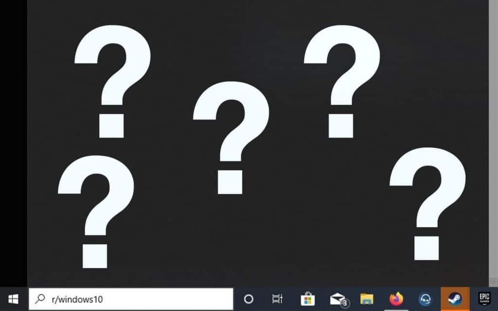 Windows 10 recherche cassée