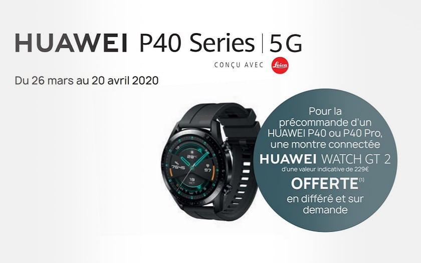 Huawei Watch GT 2 offre precommande P40 P40 Pro