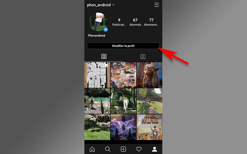Instragram changer nom utilisateur smartphone android