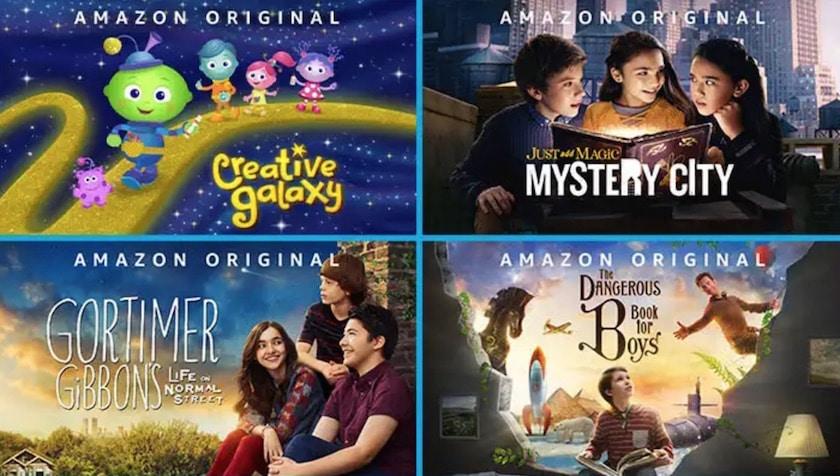 Prime vidéo séries et films pour enfants gratuits