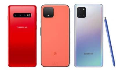 Samsung Galaxy S10 Note 10 Google Pixel 4