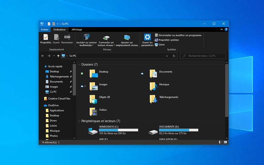 Windows 10 Explorateur de Fichiers