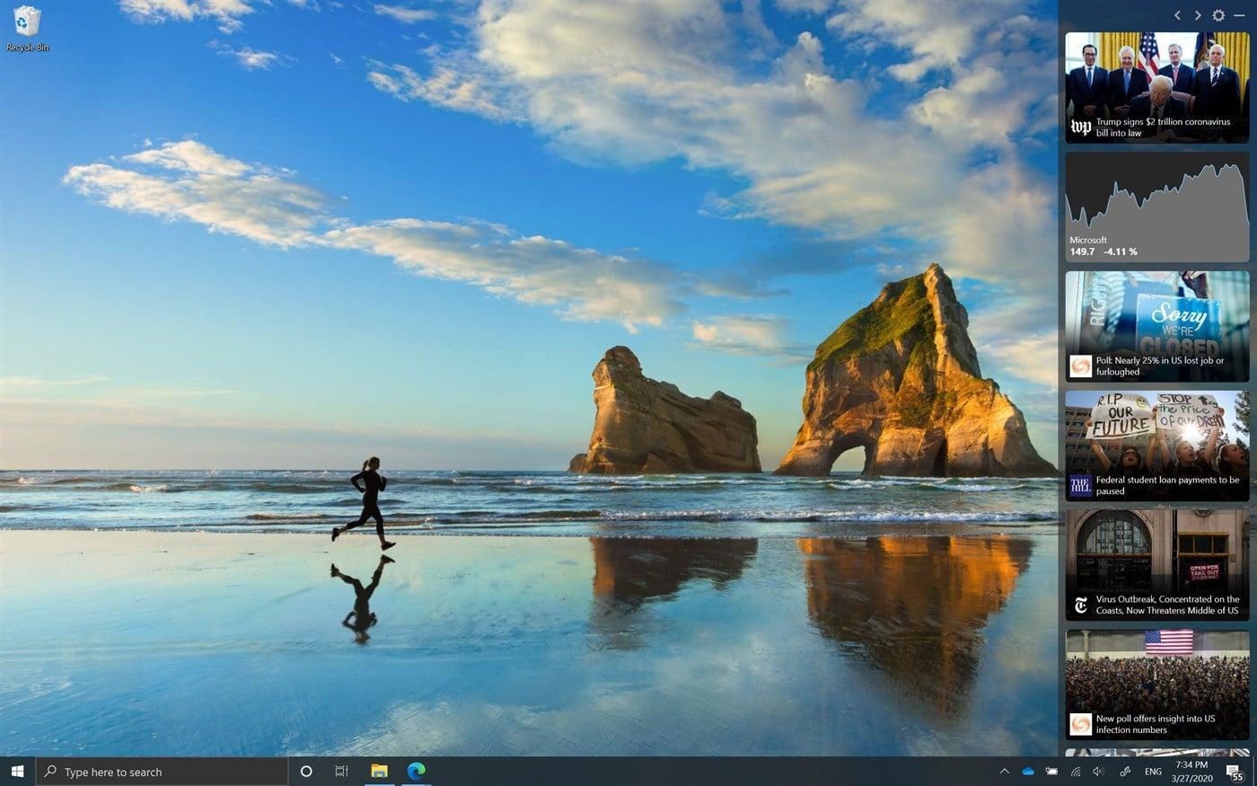 Windows 10 : Microsoft relooke le Bureau de manière étonnante avec la News Bar - PhonAndroid.com