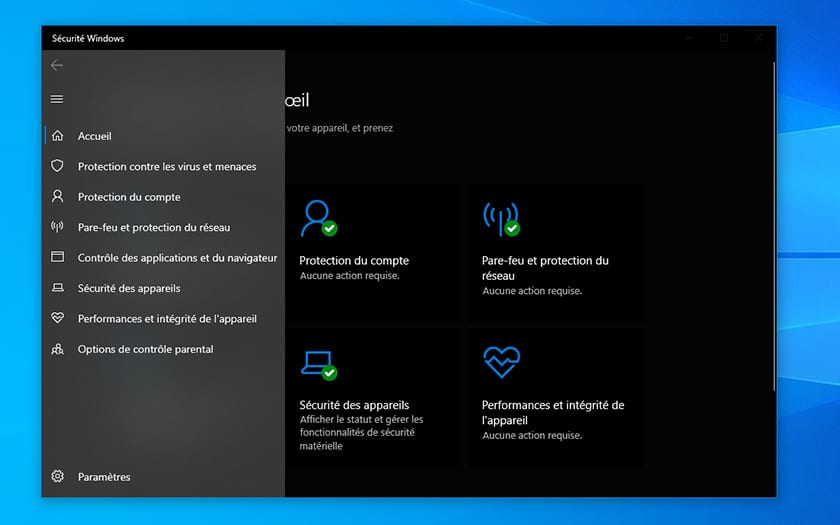 Windows 10 Securite
