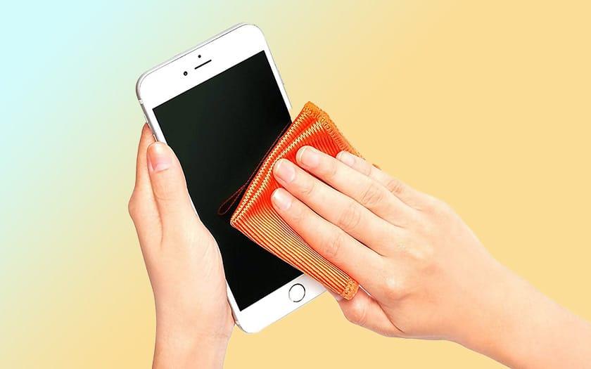 apple coronvirus nettoyer iphone désinfectant