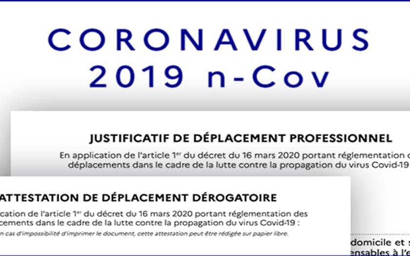 attestation deplacement coronavirus