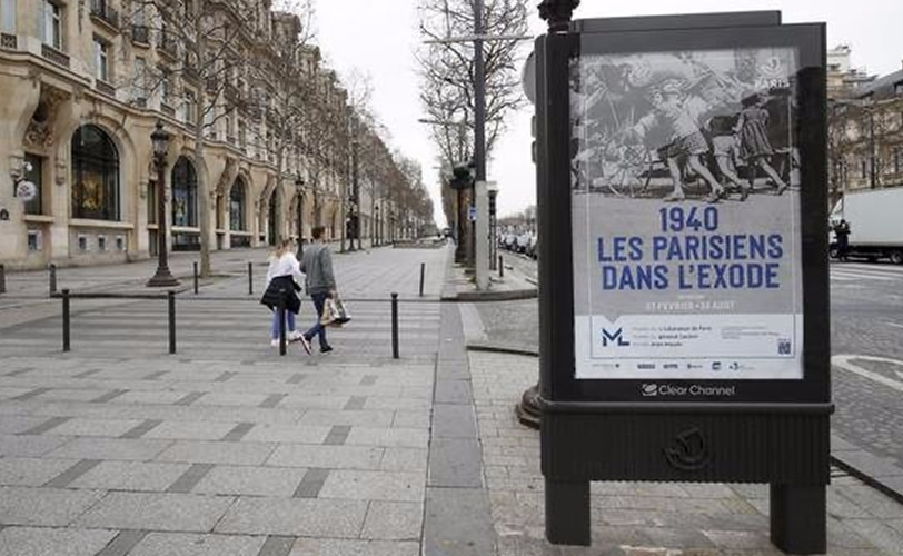 Paris coronavirus rue déserte
