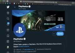 compte twitter playstation