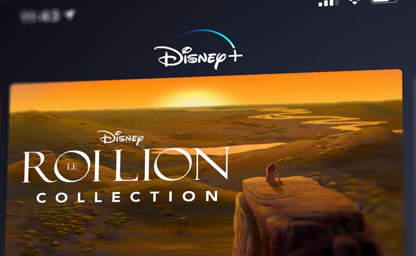 Application Disney+ iOS Android