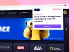 extension chrome partage comptes