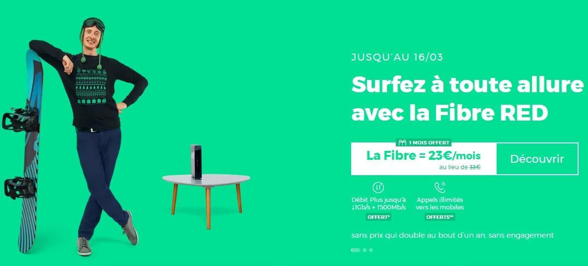 La Fibre Red by SFR à 23 € par mois