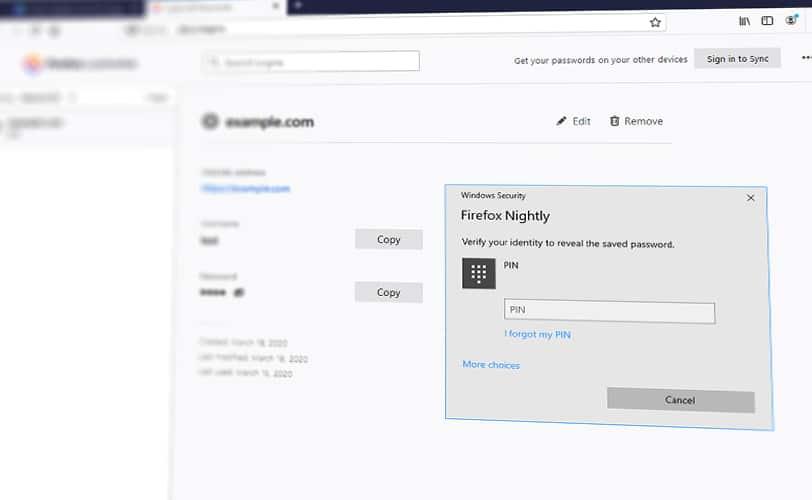Facebook Windows Hello