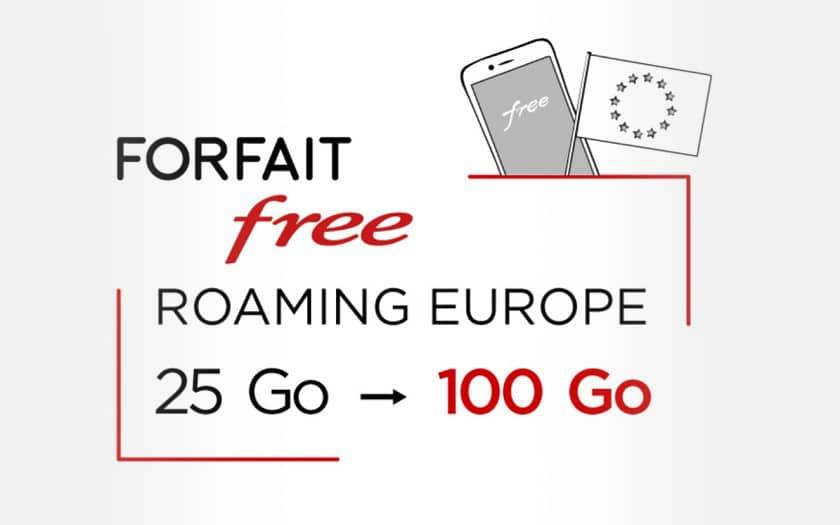 Augmentation Roaming forfait free