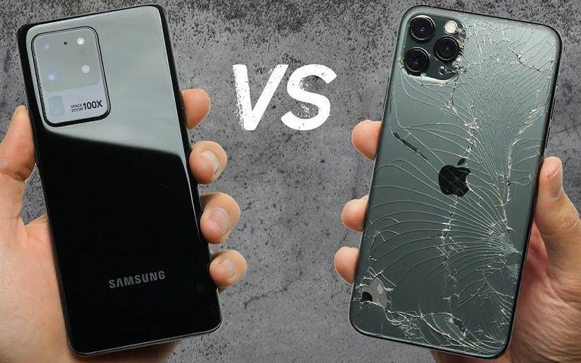 iphone 11 pro max galaxy s20 ultra drop test