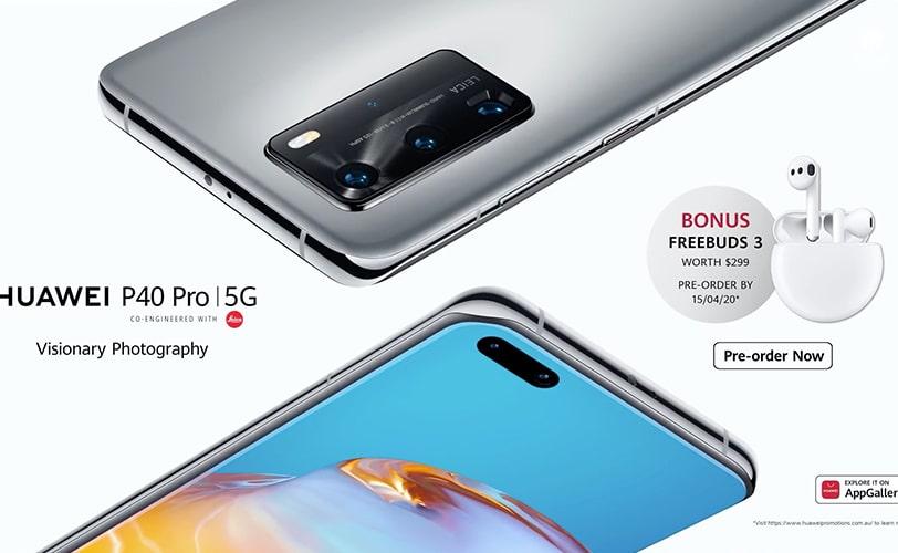 P40 Pro Freebuds 3 offerts