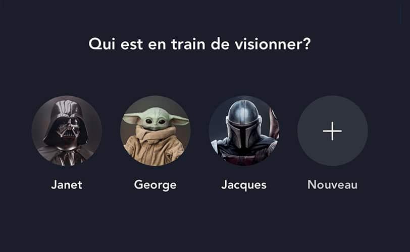 Profils Disney+