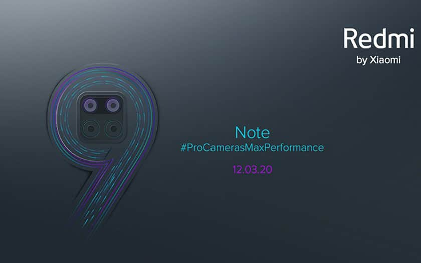 redmi note 9 pro date présentation officielle
