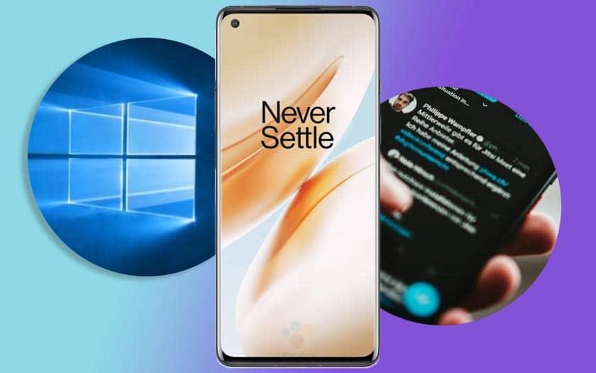 windows 10 news bar coronavirus smartphone oneplus 8 lancement