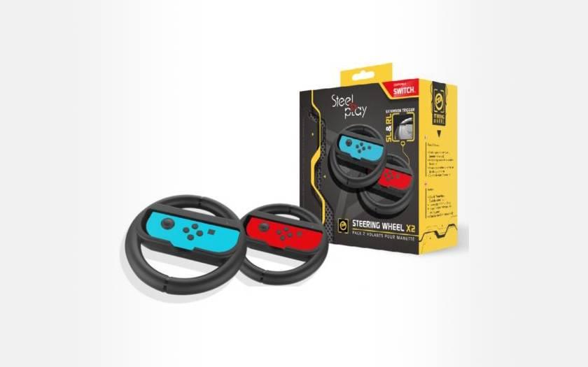 Pack de 2 volants pour manette Steelplay pour Nintendo Switch
