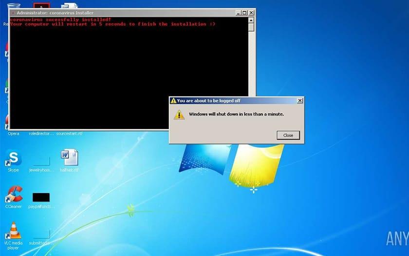 Coronavirus Installer Malware