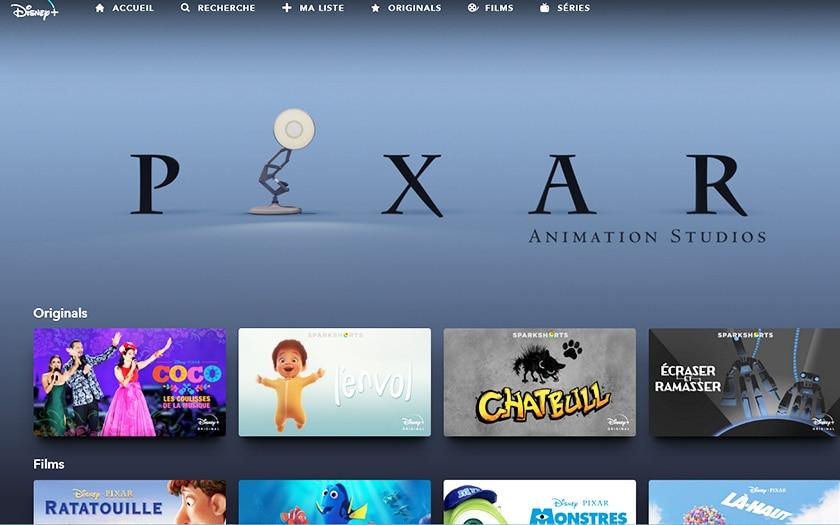 Disney plus pixar