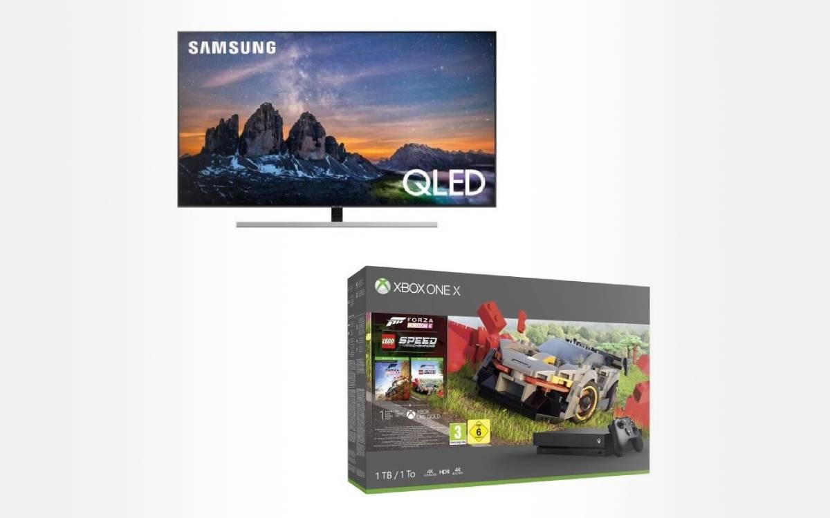 une Xbox One X offerte pour une TV QLED Samsung QE55Q80R achetée