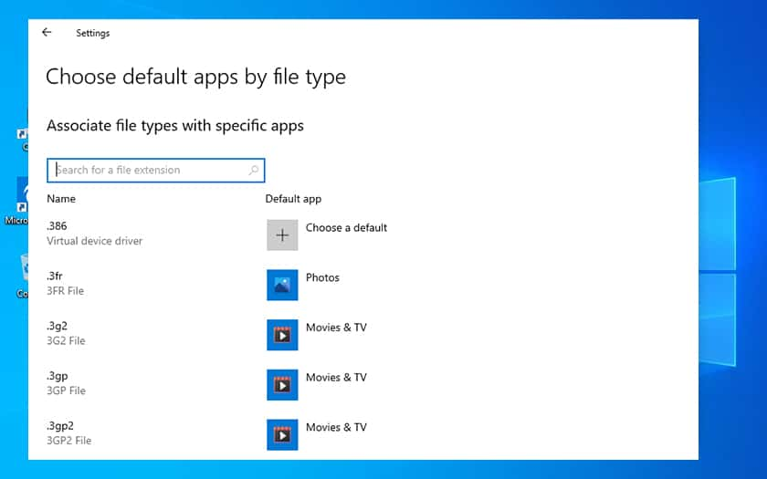 Windows 10 Applications Par Defaut Recherche Extension