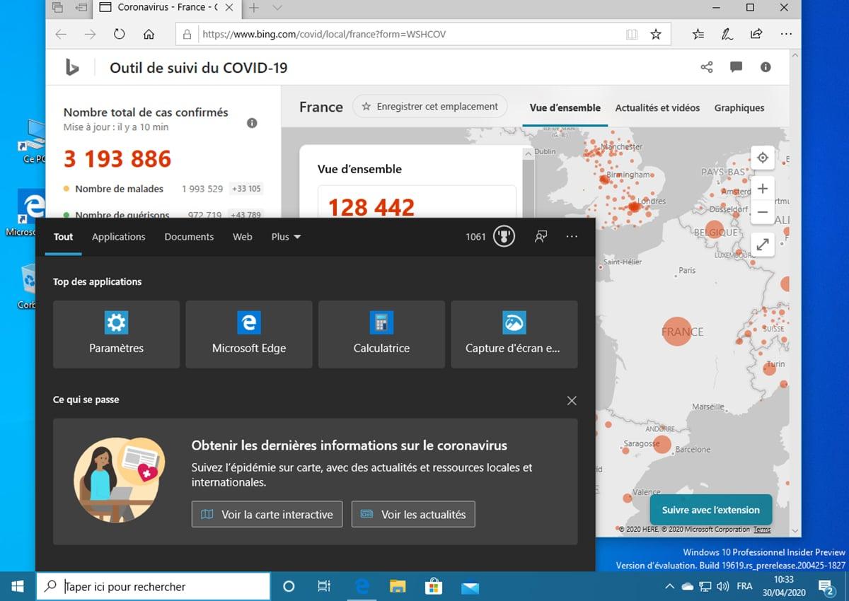 Windows 10 Build 19619 Coronavirus