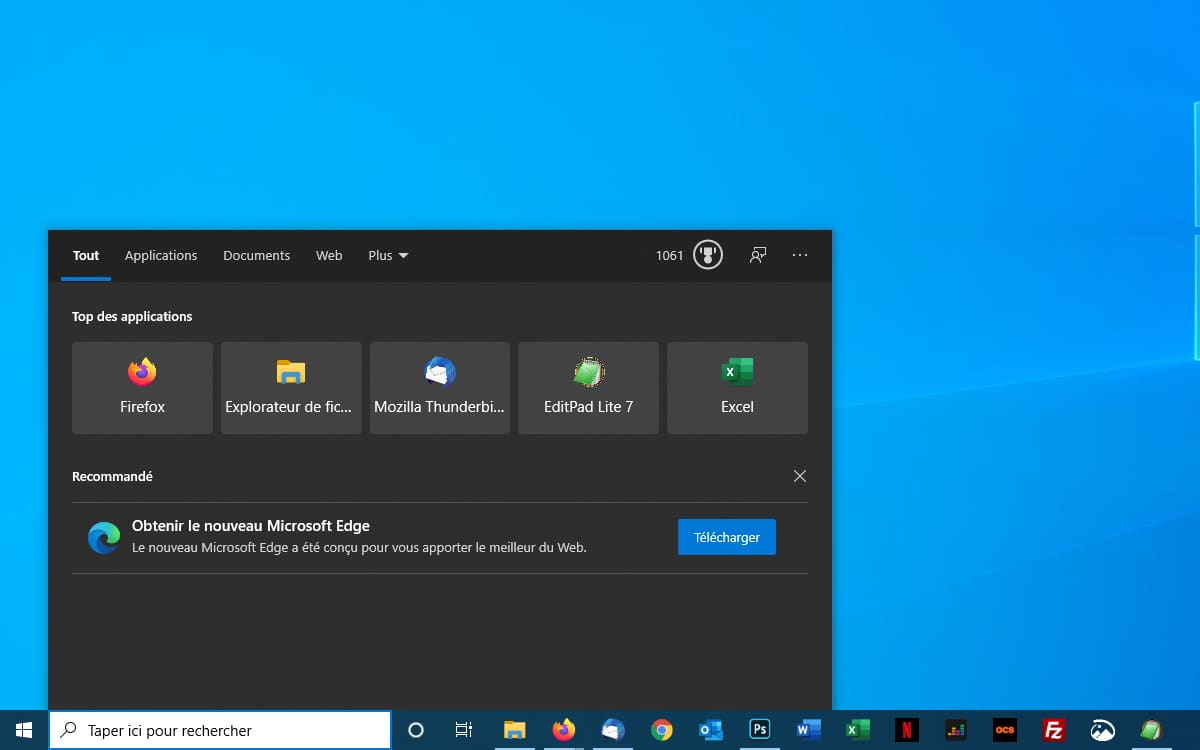 Windows 10 Microsoft Fait Promotion Dans Windows Search