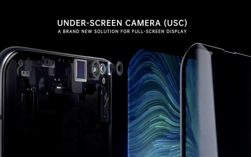 Capteur selfie sous l'écran