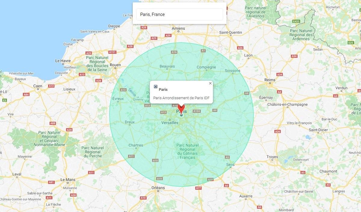 Calculer les 100 km autour de votre domicile que vous pouvez parcourir sans attestation