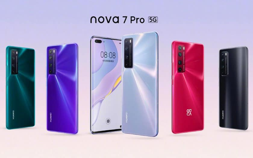 Huawei Nova 7, 7 Pro et 7 SE