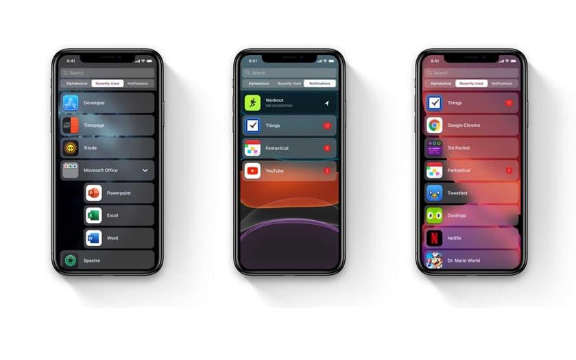 iOS 14 : applications de l'App Store