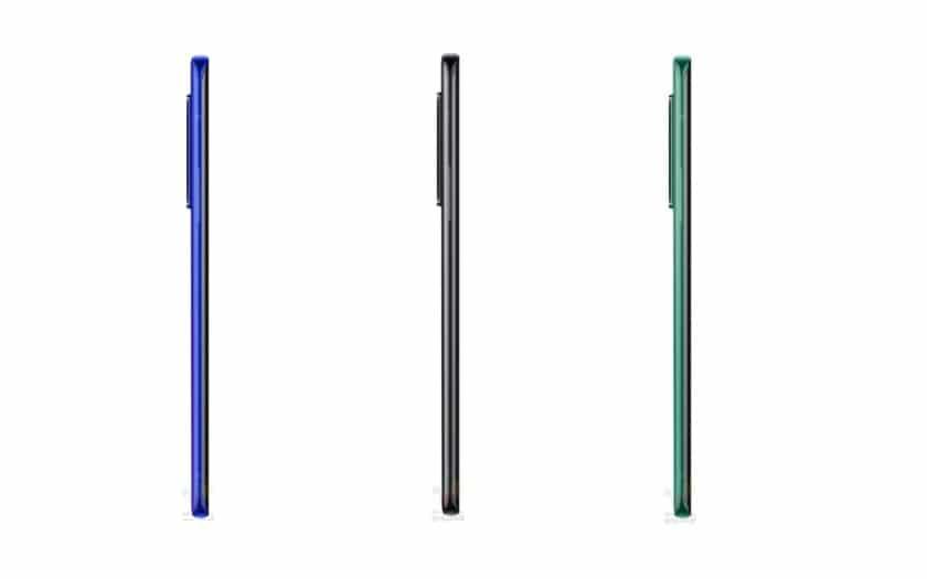 OnePlus 8 Pro en plan latéral