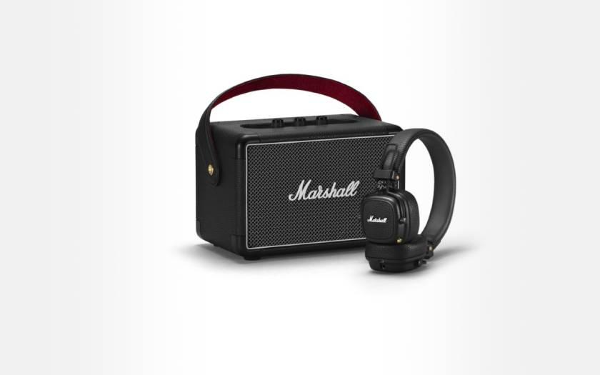 pack enceinte Bluetooth Marshall Kilburn II avec casque Major III BT