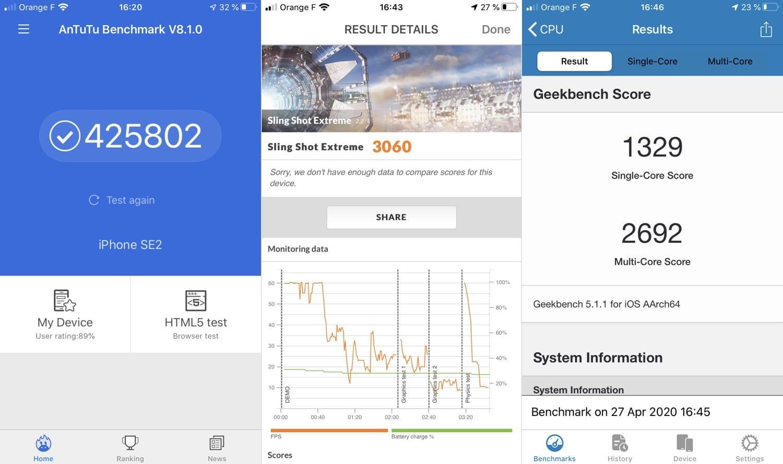 test iphone se 2020 benchmarks