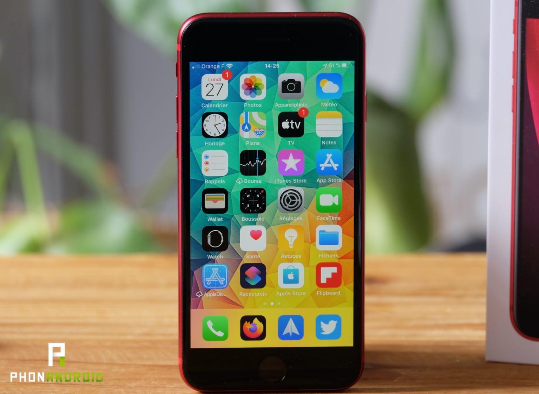 test iphone se 2020 ecran