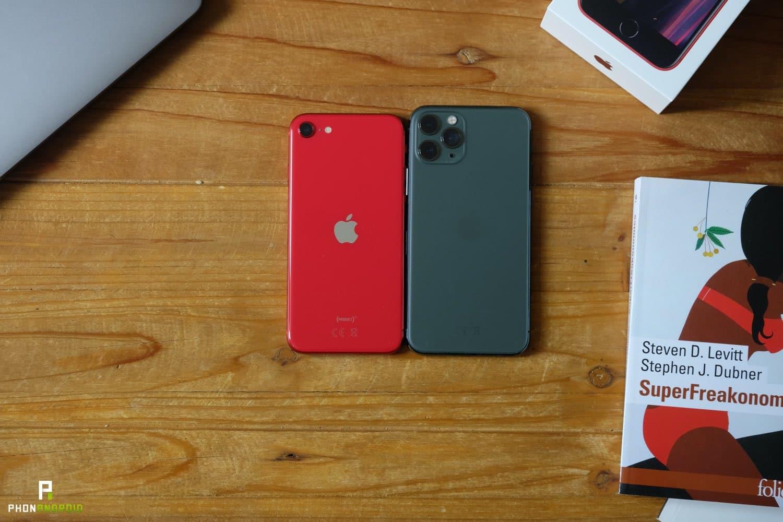 test iphone se 2020 vs 11 pro ecran