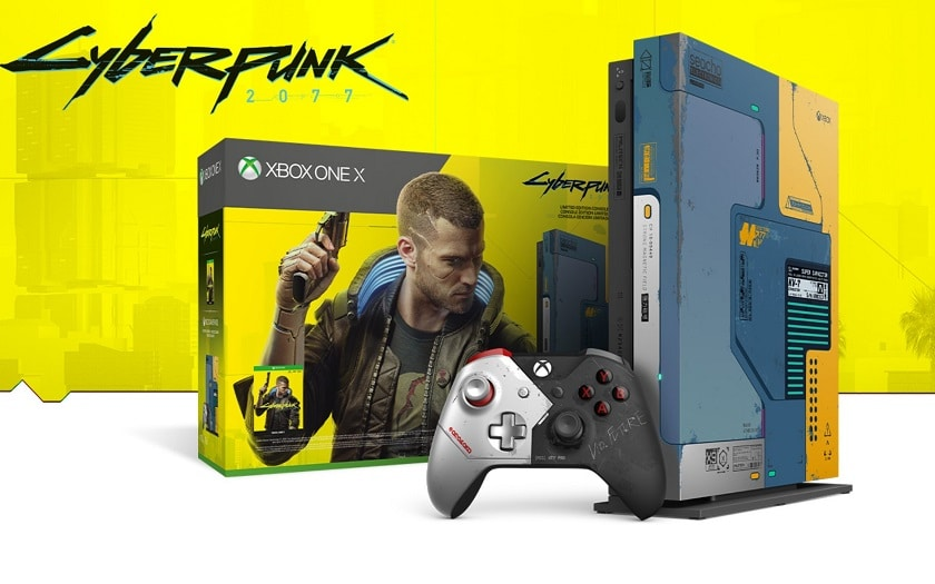 xbox one X limited edition cyberpunk 2077