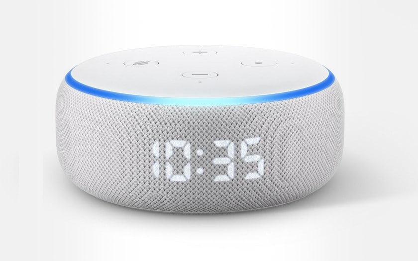 Assistant vocal Amazon Echo Dot 3 avec Horloge