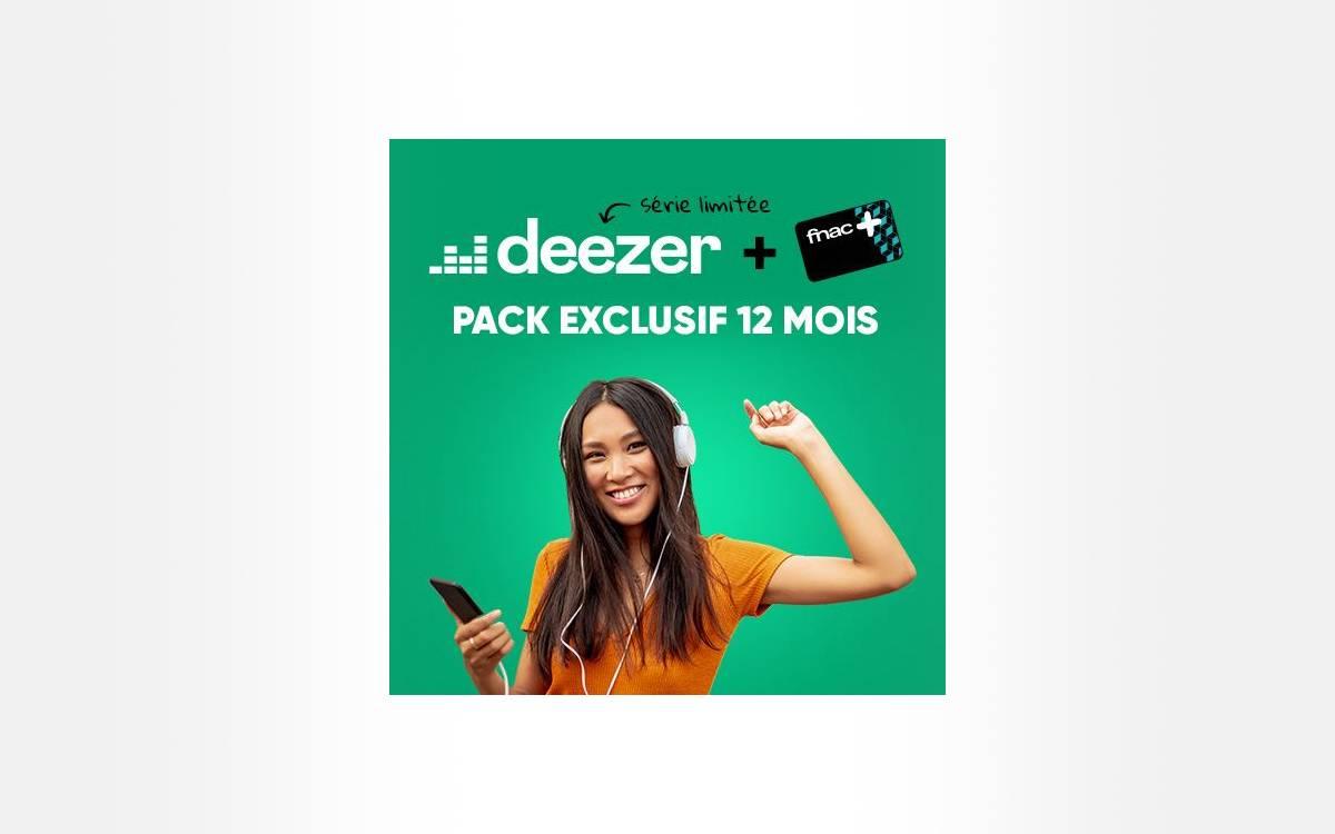 abonnement Deezer Premium avec carte Fnac+ en promo