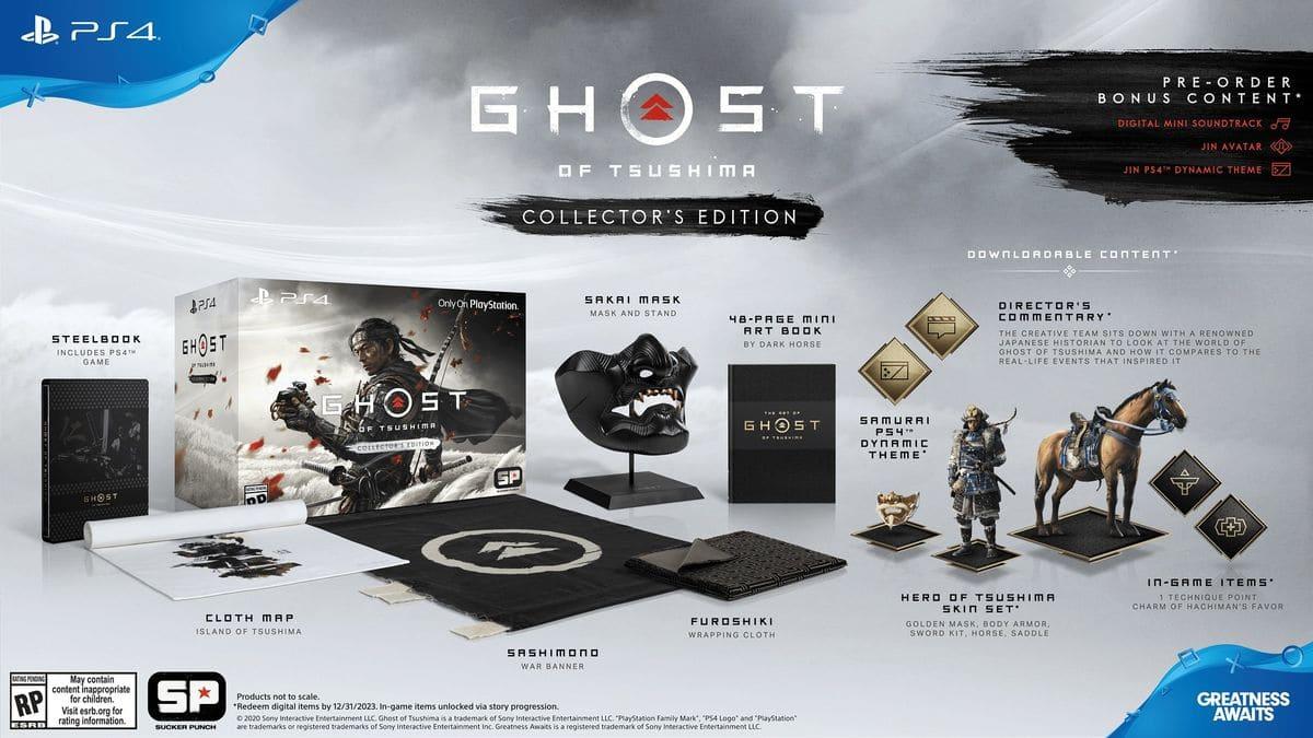 Edition Collector de Ghost of Tsushima sur PS4