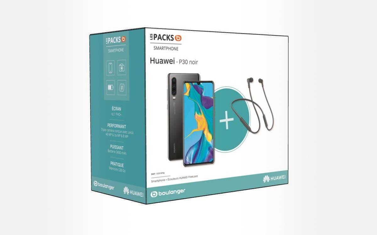 bon prix pour le Huawei P30 avec des écouteurs Freelace
