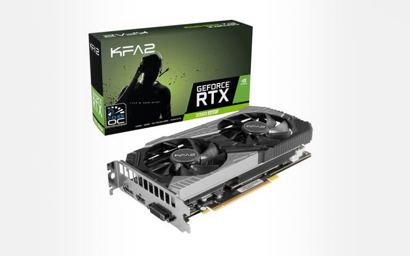 KFA2 - Geforce RTX 2060 Super - 1-CLICK OC - 8 Go