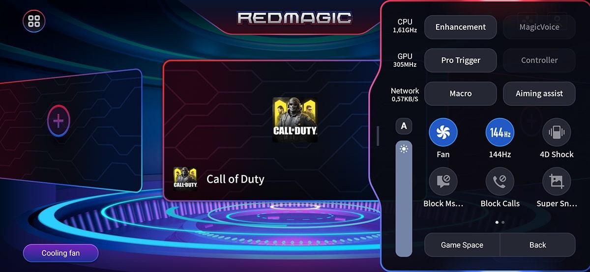 Nubia Red Magic 5G Gaming Space Parametres