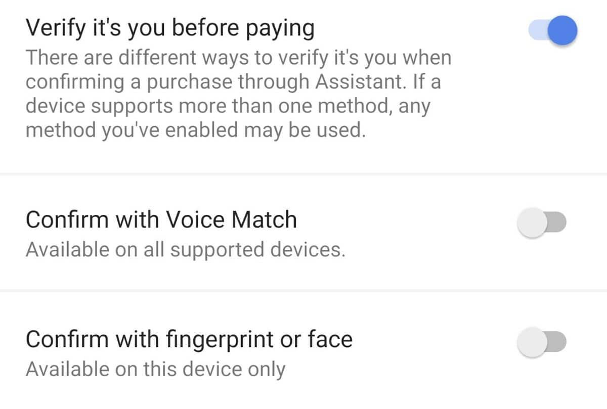 les options de Google Assistant