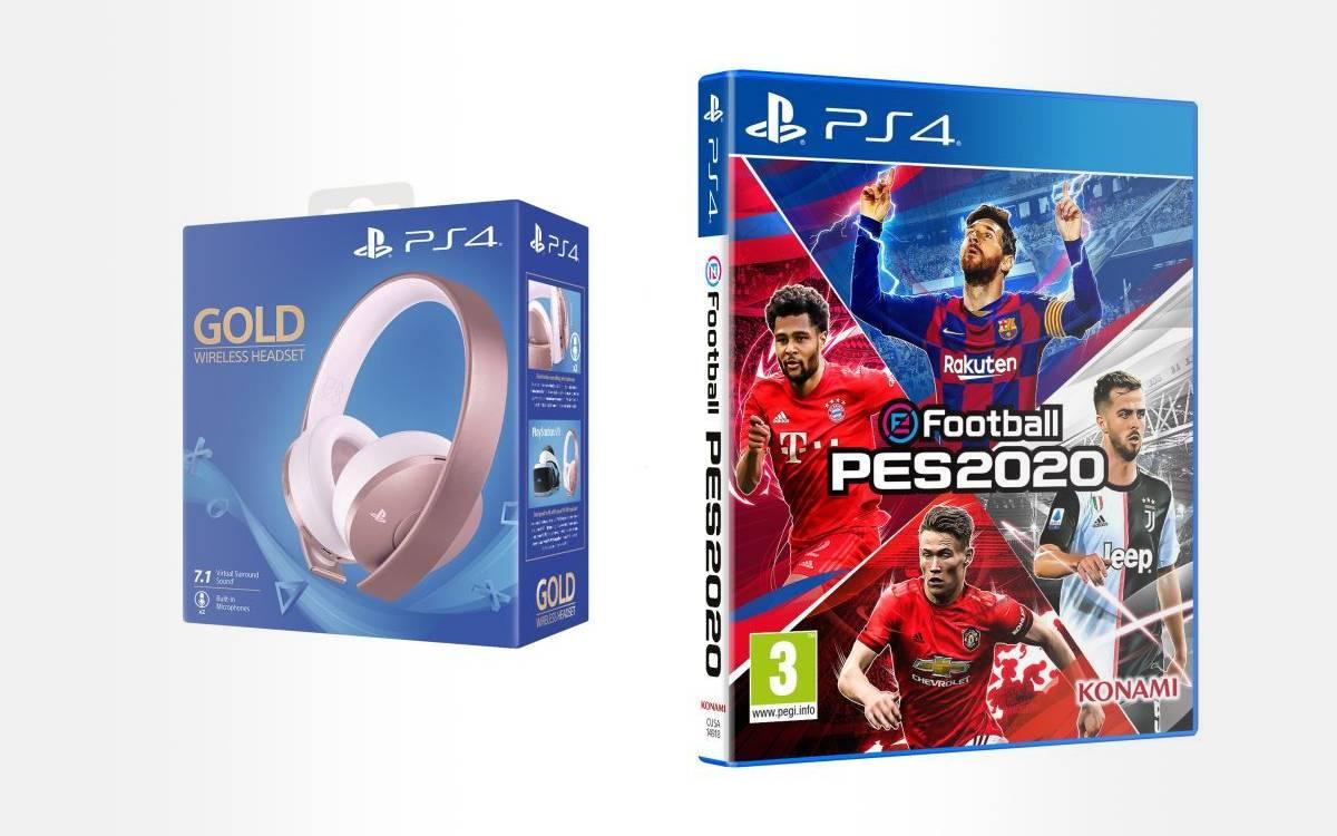 casque-micro sans fil Edition Rose Gold pour PS4 avec PES 2020 en promo